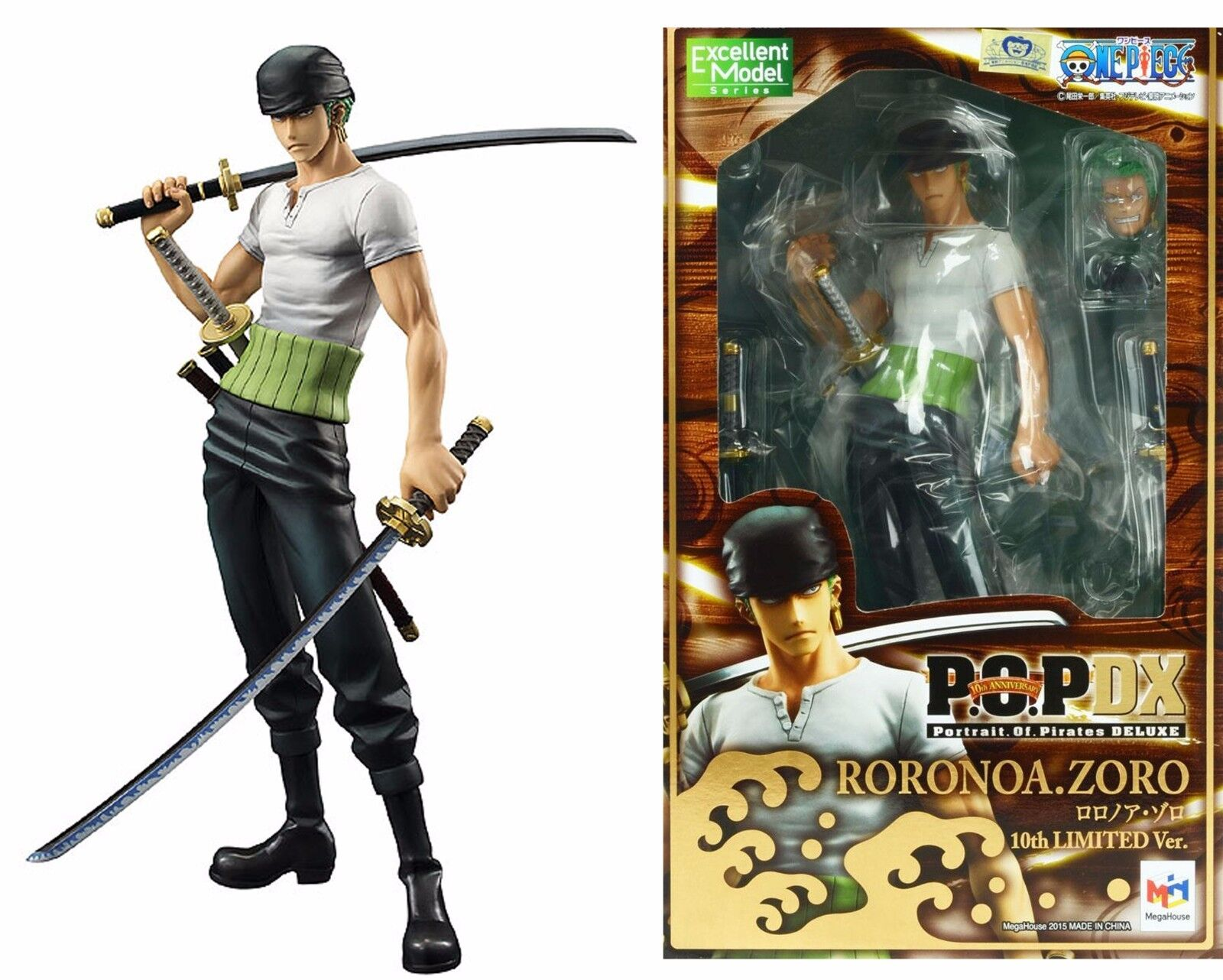 FIGURA ONE PIECE RgoldNOA Zgold 10th LIMITED VERSIÓN POP P.O.p. DX EXCELENTE