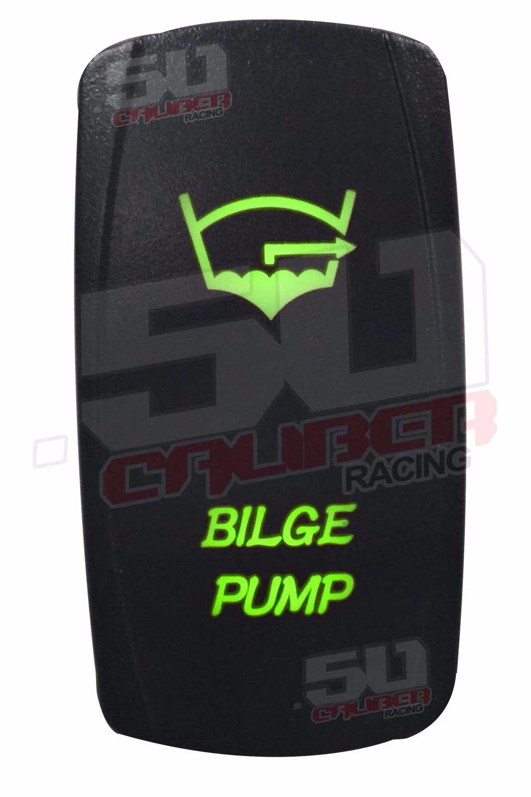 Marine Boat Bilge Pump Rocker Switch Green for Mastercraft Chaparral Elan Malibu