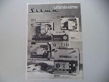 advertising Pubblicità 1969 SILMA 128/250 S/DUO/120 SL/BIVOX