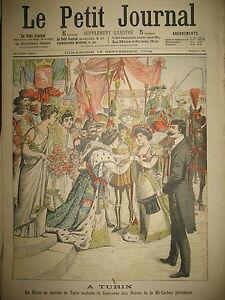 ITALIE-TURIN-REINES-DES-MARCHeS-CUIRASSe-JEANNE-D-039-ARC-LE-PETIT-JOURNAL-1904