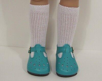 "Debs DK LAVENDER T-Strap SM Doll Shoes For Sonja Hartmann 18/"" Kidz n Cats"