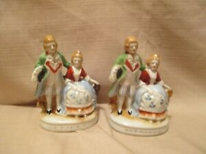 Vintage Set Of 2 Porcelain Couple Figurines Made In Occupied Japan Hand Painted Ebay