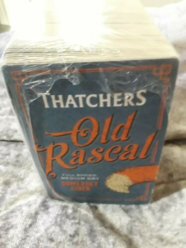 Thatchers Old Rascal Beer Mats X25 Brand New