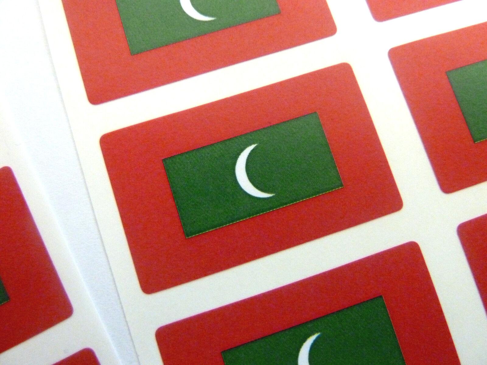 Mini Sticker Pack Self Adhesive Maldives Flag Labels Fr175