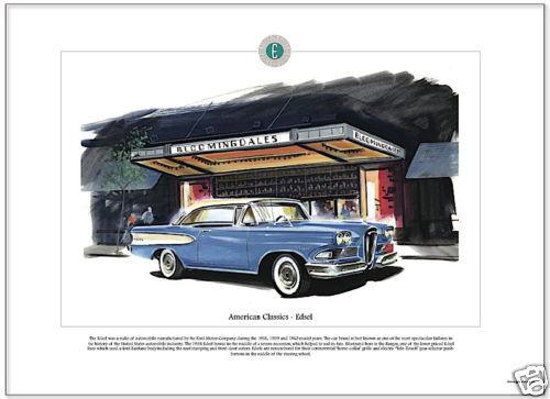 American Classics - 1958 EDSEL RANGER - Fine Art Print - Horse Collar Grille Car