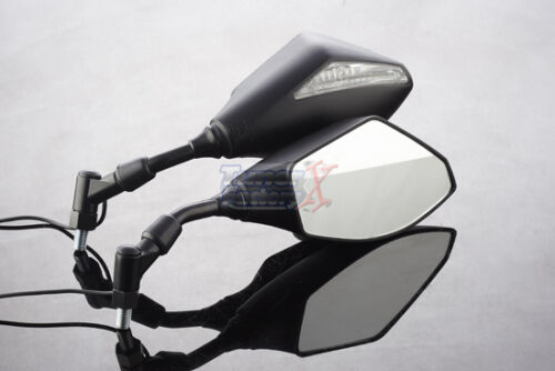 Aprilia Shiver Tuono V4R-Caponord 1200 Naked 10mm INTEGRATED LED MIRRORS Black