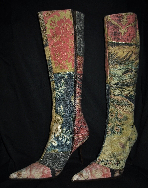 Luxus ROBERTO CAVALLO Designer VICINI Kreppsohle KAUTSCHUK Leder Vintage Stiefel Kreppsohle VICINI ad9007