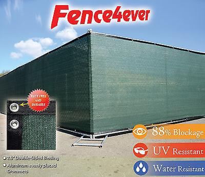 Green 6'x50' Fence Windscreen Privacy Screen Shade Cover Fabric Mesh Garden Tarp