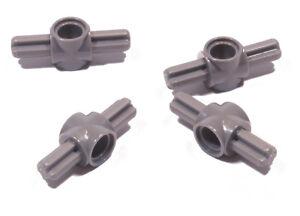 LEGO-Technik-4-Verbinder-2-x-Achse-1-x-Pinloch-dunkelgrau-27940-NEUWARE