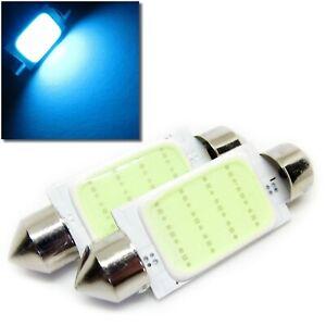 UK-x2-C5W-Azul-Hielo-COB-31-35-38-41mm-Numero-De-Matricula-del-Coche-Interior-Festoon-LED