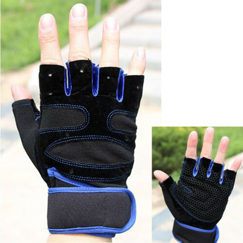 Men Women Support Workout Wrist Wrap Gloves Gym Lifting Weight Fitness Exercise