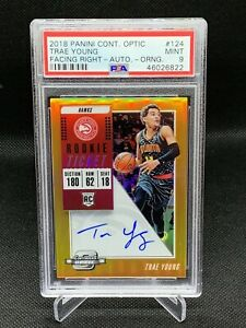 2018-Panini-Contenders-Optic-Orange-Trae-Young-25-PSA-9