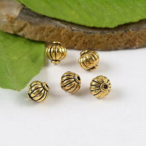 80pcs Dark Gold-Tone Dragonfly Spacer Beads h2270