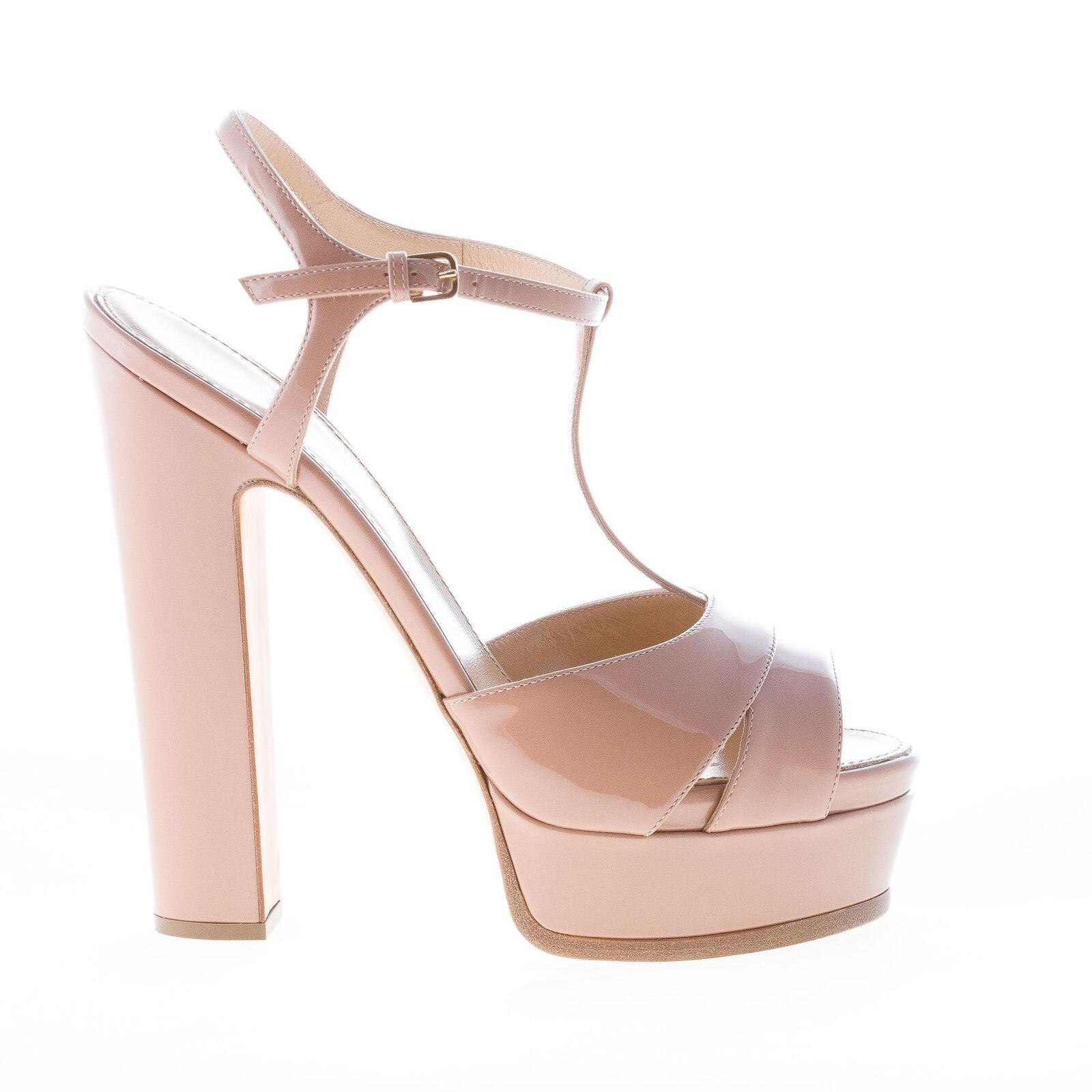 SERGIO ROSSI women shoes Edwige bright bright bright skin patent leather sandal with platform 12efb8