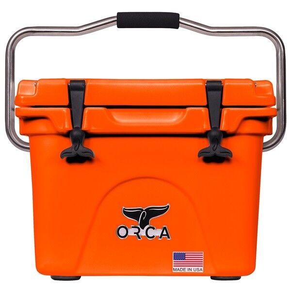 ORCA 20 QT BLAZE orange COOLER   LIFETIME WARRANTY  BLAZE orange 20 QUART COOLER