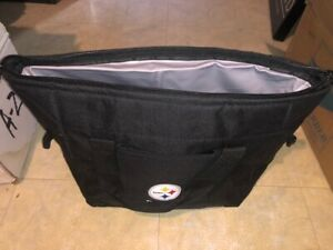 Pittsburgh-Steelers-Cooler-Zipper-Insulated-Lunch-Bag-Box-Tote-Pack-NFL-Black