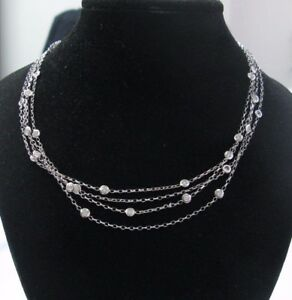 Nini-Collection-18Kt-Diamond-By-The-Yards-White-Gold-Necklace-2-11Ct