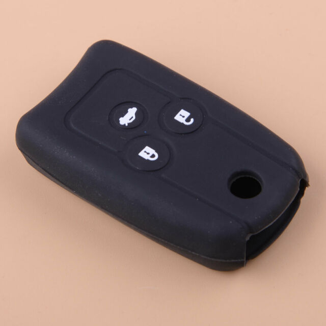 Black 3 Buttons Silicon Flip Key Cover Case Fob Fit For