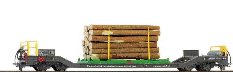 BEMO 2289 151/2289151 RHB SBK-V 7711 Carrello Trasporto con carico legno traccia h0m NUOVO