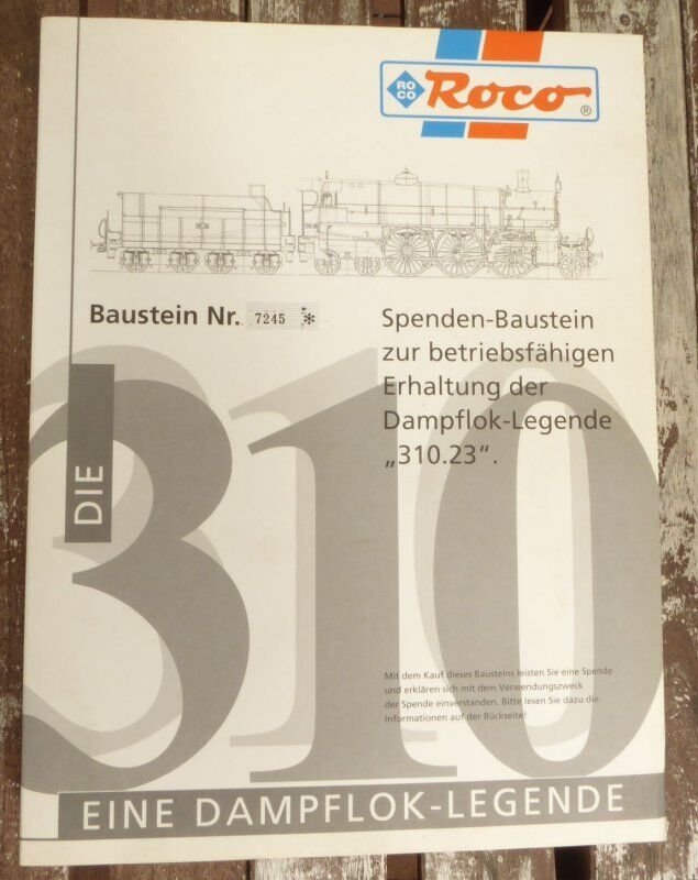 Roco 43330 de-Baustein for bbö ÖBB Steam Locomotive BR 310.23 with