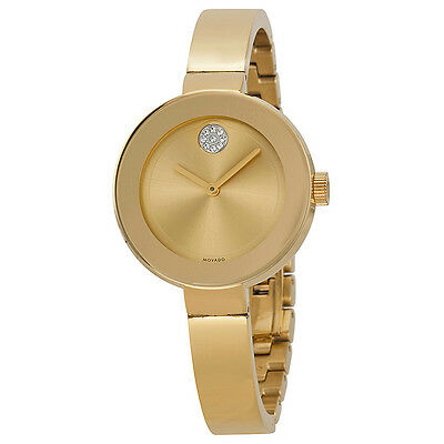 Movado Bold Champagne Dial Gold Ion-plated Ladies Watch 3600201