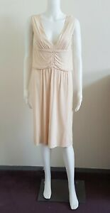 SCANLAN-amp-THEODORE-V-Neck-Dress-Ivory-Cream-Women-s-Size-10-France