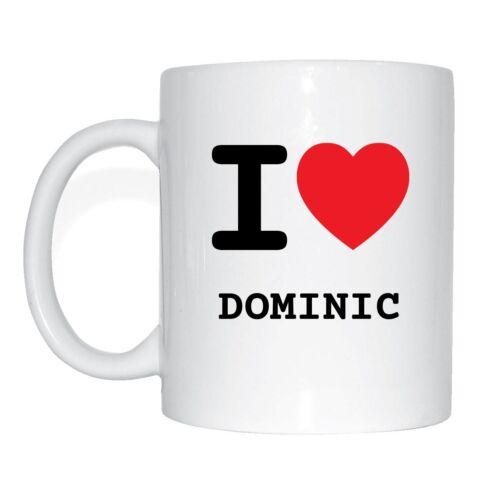 I love DOMINIC Tasse Kaffeetasse