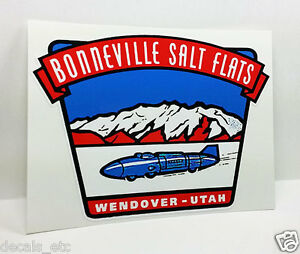 BONNEVILLE SALT FLATS UTAH Vintage Style DECAL, Vinyl STICKER, rat rod, hot rod