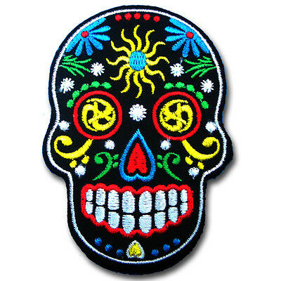 Sugar Skull Punk Goth Yipsee Hippie MC Biker Rider Motorcycle Vest Patch Iron on