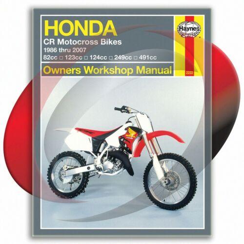 2003-2007 Honda CR85R Haynes Repair Manual 2222 Shop Service ...
