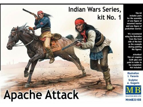 ATTAQUE APACHE Guerre Indiennes KIT MASTER BOX 1//35 n° 35188