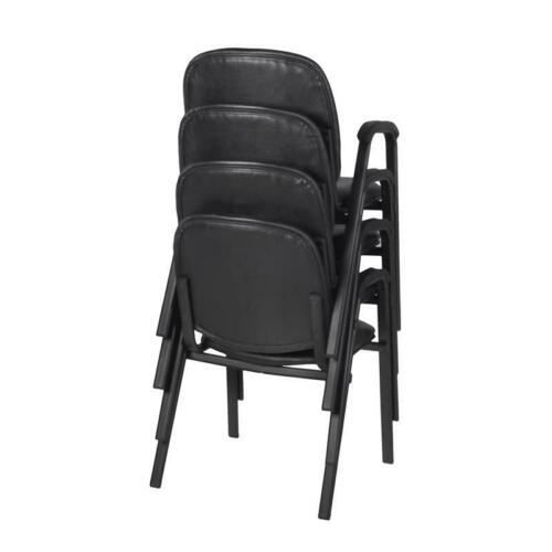 Ace Vinyl Stack Chair (4 pack)- Black