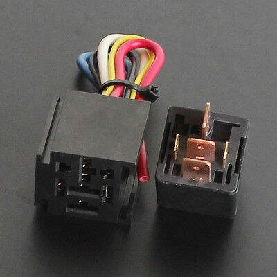 2pk 5Pin Over 80AMP 12v Relay & 5-WIRE SOCKETS 80 AMP AUTO RELAY free shipping