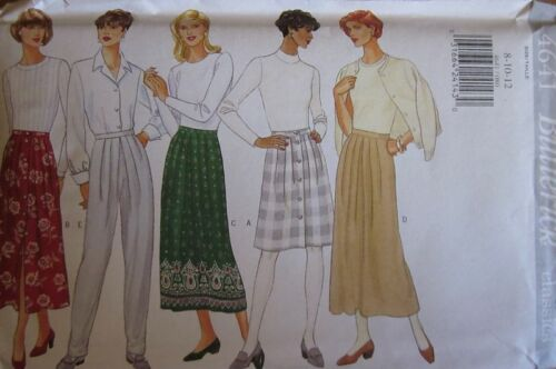 4641 UNCUT VINTAGE Butterick SEWING Pattern Misses A Line Skirt Pants OOP SEW FF