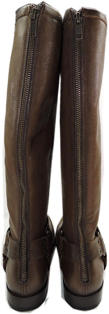 Frye Phillip Harness Stiefel Zipper Soft Leather Leather Leather Riding Biker Equestrian Stiefelies 7 d8d9e6