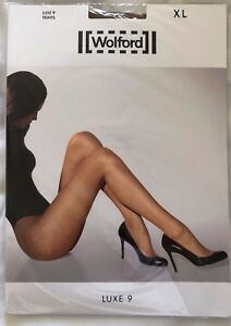 96a7eae9b08 Image is loading Womens-Wolford-Luxe-9-Tights-Bronze-Style-17028-
