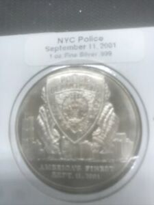Sept-11-Police-Tribute-LAND-OF-THE-FREE-1-oz-Silver-999-Round-Great-Gift