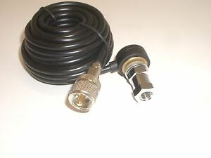 PROCOMM HS818T-NKT 3/8-24 STUD MOUNT 18Ft RG-58U COAX CABLE KIT & NIPPLE PL-259