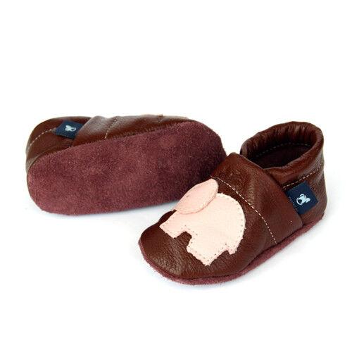 des chaussons de bébé cuir amener du Pantau Cuir KRABBELSCHUHE Lauflernschuhe-Animaux