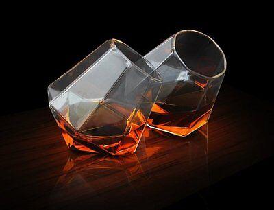 Soiree DIAMOND Whiskey GLASSES Spirit Drinking Tumbler - Set of 2 Thumbs Up