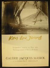 Affiche exposition Kim En Joong 24 mars 1974 Galerie Jacques Massol