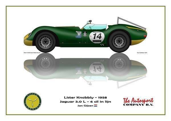 impression on toile Lister Knobbly 1958, blanc 40 x 30