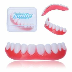 Smile Cosmetic Veneer Snap On Upper Teeth Comfort Top Dental Beauty +Box 788400591600