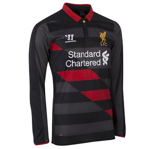info for c5878 37093 Details about LIVERPOOL 2014/15 3rd BLACK (2XL) LONG/SLVE FOOTBALL SOCCER  SHIRT JERSEY WARRIOR