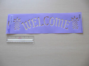Plaid-Decorating-Stencil-Welcome-sign-Folk-Art-Country-28521-Warm-Welcome