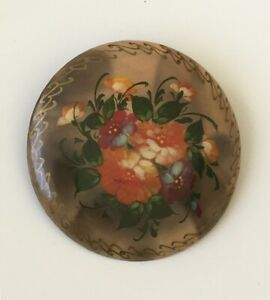 Vintage-Russian-Lacquer-Floral-Brooch