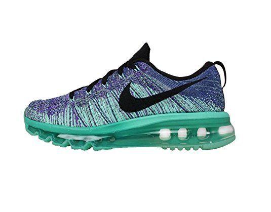 Women's Nike Flyknit Max shoes 620659 501 size 12 (29cm) HYPER GRAPE TURQUOISE