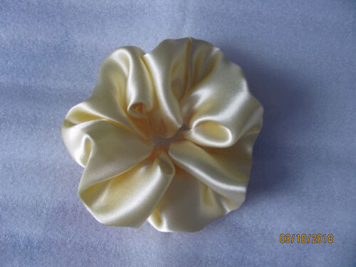 Lightweight Satin Hair Scrunchies in Four Colours