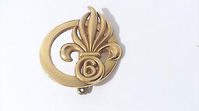 insigne de béret du 6°REG 6°Régiment Etranger de Génie LÉGION ÉTRANGÈRE