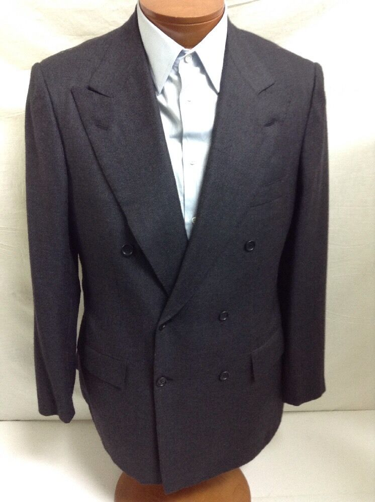New KITON Napoli D.Breasted Dk.grau Cashmere Suit 52R / US 42R - W37 9000.